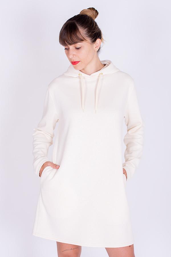 Patron de couture robe sweat à capuche