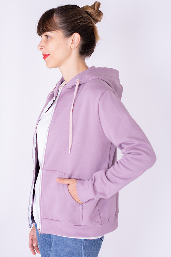 Patron de couture sweat zippé à capuche et poche kangourou
