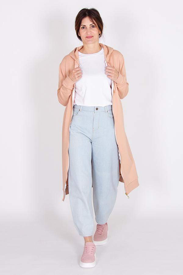 Patron de couture sweat zippé long à capuche