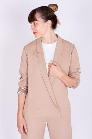 I AM Patterns sewing pattern blazer jacket sand Full Moon