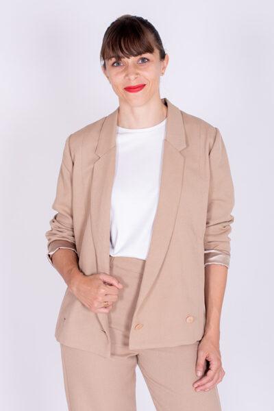 I AM Patterns Patron Couture Veste Tailleur Blazer Beige Full Moon 7 1
